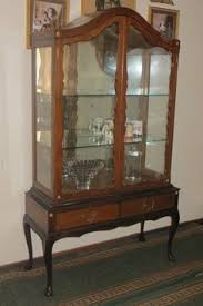 custom created display cabinet triple glass door hutch from a two