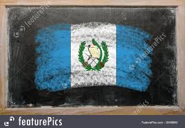Guatemala Flag Picture Of Flag Of Guatemala On Blackboard Painted With Chalk