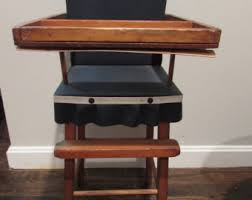 Antique Wood High Chair Antique High Chair Etsy