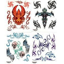 large tribal tattoo pack tattoo sticker