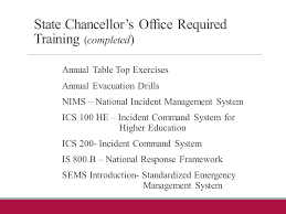 incident command table top exercises safety security service and emergency plans gary j montecuollo