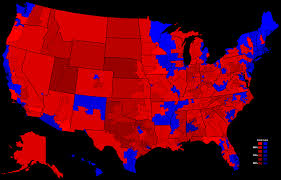 2000 Presidential Election Map by 1980 Presidential Election Results By Congressional District