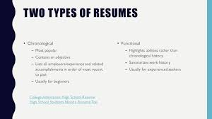 what is a objective on a resume resumes and cover letters what is a resume type of genre writing 7 two types of resumes chronological most popular contains an objective lists all employers experience and related accomplishments in order of most