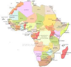 Africa Map Political by Countries In Africa Map