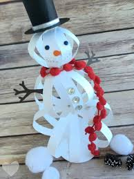 how to make a snowman craft with paper strips the crafty blog