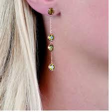 peridot earrings designer peridot gold raindrop earrings london road jewellery