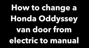 honda odyssey automatic sliding door hinge replacement repair 05