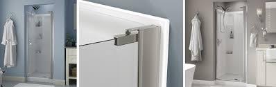 No Shower Door No Top Track Style Pivoting Shower Door Installation