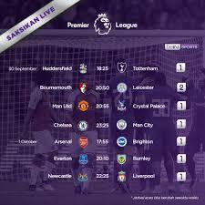 Jadwal Liga Inggris Siaran Langsung Liga Inggris Pekan 7