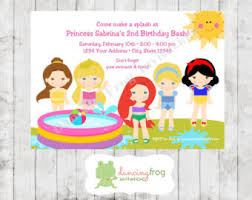 princess pool party etsy