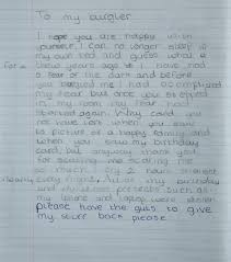 brave 11 year writes to burglars asking them to the