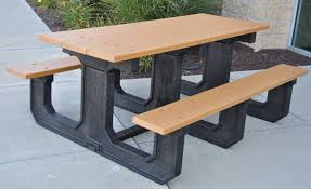 plastic rectangular outdoor table rectangular recycled plastic picnic table park warehouse