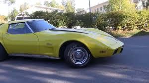 1976 corvette yellow yellow corvette c3 1976 last start before going to winter storage
