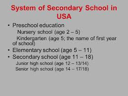 name of high school in usa secondary education in usa by katya zvereva notes there is no