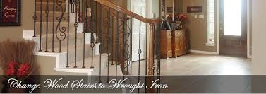 Replacing A Banister And Spindles Stair Flair Wrought Iron Stair Spindles Dallas Change Out