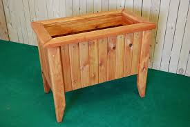 Redwood Planter Boxes by Pl Box Redwood Rectangle Planters With Legs U2014 The Redwood Store