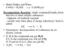 chemical equations and reactions chemical reaction one or more