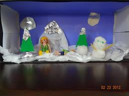 easy winter diorama craft for kids living in glastonbury ct