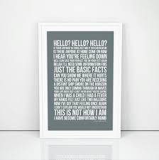 Lyrics For Comfortably Numb Pink Floyd Comfortably Numb Lyrics Poster Print Song Artwork