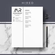 resume modern fonts for logos professional modern and minimalist resume template for ms word
