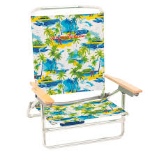 How To Close Tommy Bahama Chair Tommy Bahama 5 Position Palm Tree Beach Chair Portable Outdoor