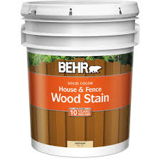 behr 5 gal deep base solid color house u0026 fence stain 03005
