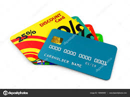 3d illustration of discount cards template for business u2014 stock