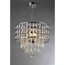 Cascading Chandelier by Warehouse Of Tiffany Platter Crystal 3 Light Chrome Chandelier