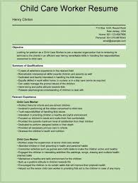 Child Resume Sample by Child Care Provider Resume Description Resume Child Care Provider
