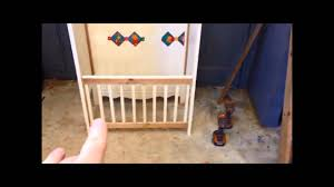 Old Baby Cribs by Baby Bed Crib To Bench Conversion Youtube