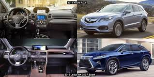 acura rdx vs lexus rx lexus rx 350 vs acura rdx 2016 2018 2019 car release and reviews