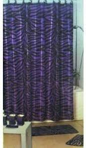 Zebra Print Bathroom Rugs Zebra Shower Curtain Set Foter