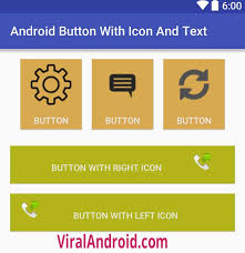 android image button android button with icon and text viral android tutorials