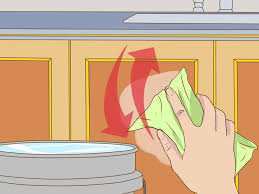 how to clean greasy kitchen cabinets 3 ways to clean greasy kitchen cabinets wikihow