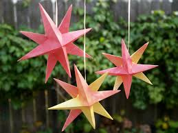 folded paper christmas origami stars the magic onions