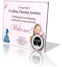 wedding planner certification course lovegevity and the wedding planning institute course tours