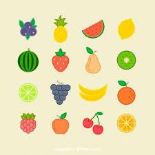 imagenes gratis de frutas y verduras colección de fruta plana de verano vector gratis elementos