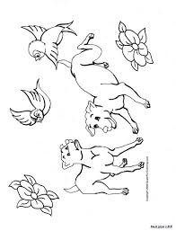 coloring pages draw a puppy the mother dog with pups christmas st