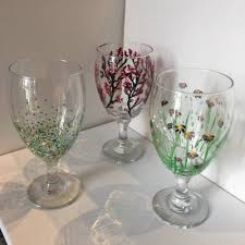 wine glass painting at arte presented by arte wine and painting