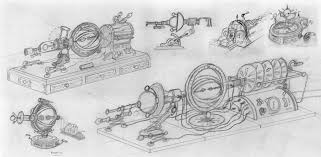 victorian style time machine sketches by joeharlow on deviantart