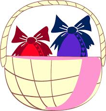 dessin de pâques pour les enfants le panier pour ramasser les