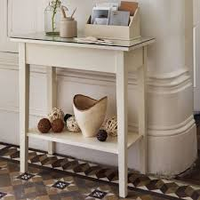 Small Hallway Table Enchanting Small Hallway Table Narrow Using Antique White Wood