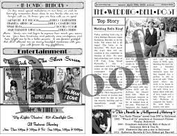 newspaper wedding programs the day of the rest of my with you wedding programs