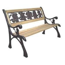 iron park benches cast iron bench ebay