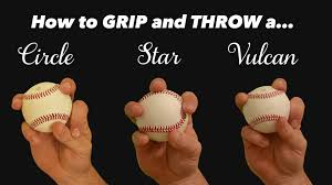baseball pitching grips change ups the circle star and vulcan