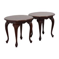 64 off ethan allen ethan allen heirloom round lamp tables tables