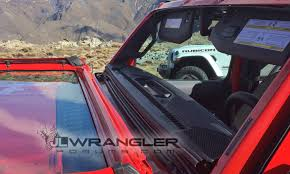 jeep soft top open first look at new folding windshield and soft top open air mode