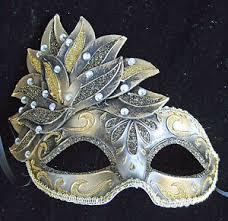 new orleans masquerade masks venetian mardi gras mask gold bronze cascade mardi gras new