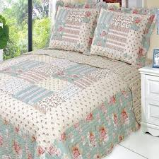 Patchwork Duvet Covers Country Cottage Floral Patchwork Quilt Coverlet Set Luxury