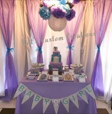 backdrop for baby shower table owl lavender turquoise gray chevron baby shower backdrop and treat